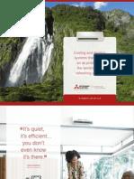 Mitsubishi Mr. Slim Mini Split Ductless Heat Pump and Air Conditioner 2011 Line Card Brochure