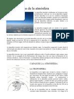 Características de la atmósfera