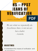 Means of Verification