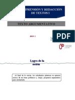 PPT sobre la estructura de un texto argumentativo