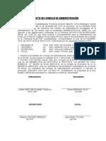ACTA DE INSTALACION DE CONSEJO DE ADMINISTRACION DE ROUD 2018