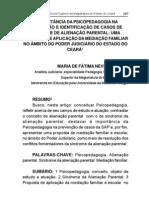 A IMPORTÂNCIA DA PSICOPEDAGOGIA NA PREVENÇÃO E IDENTIFICAÇÃO DE CASOS DE SÍNDROME DE ALIENAÇÃO PARENTAL
