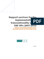 Guidelines for managing ESF transnationality APRI