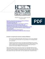 Health Care Policy Center Journal
