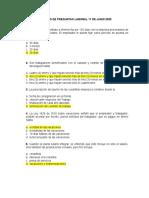 BANCO DE PREGUNTAS PREPARATORIO DERECHO LABORAL 17 DE JUNIO 2020.
