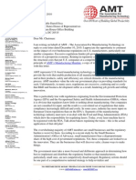 Association for Manufacturing Technology Letter to Chairman Issa - January 18, 2011