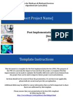 Post Implementation Review (PIR) Template