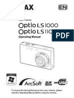 Pentax Optio LS1000/LS1100 Manual English