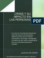 CRISIS Y SU IMPACTO EN LAS PERSONAS
