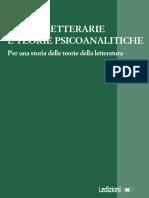 R. Talamo - Teorie psicoanalitiche e forme letterarie