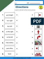 Directions-Worksheet-Matching-Worksheet
