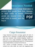 Cargo Insurance Needed