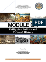 PHILIPPINE POLITICS AND CULTURAL HISTORY