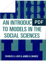 Charles a. Lave - An Introduction to Models in the Social Sciences-University Press of America (1993)