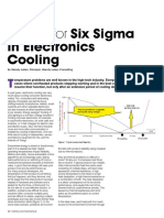 Design for Six Sigma in electronics cooling