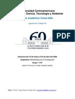 Agenda de Trabajo #4 Métodologia de la Investigación