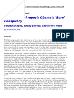 Obama's COLB Forgery, Final Report - Ron Polarik PhD