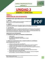 CURSO PREPODEUTICO UNEMI UNIDAD 3 DEBERES Y DERECHOS