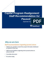 Sound Transit - Capital Program Realignment Paused Actions Presentation - 9-10-2020