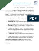 LAS ASIGNACIONES Y TRANSFERENCIAS PRESUPUESTALES DEL GOBIERNO NACIONAL. Y LAS ASIGNACIONES Y TRANSFERENCIAS ESPECÍFICAS PARA LOS SERVICIOS DESCENTRALIZADOS.docx