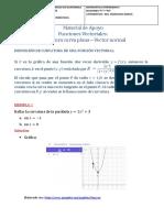 Material de apoyo - Funciones Vectoriales Curvatura curva plana Vector Normal