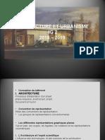 ARCHITECTURE URBANISME 2018  2019.ppt