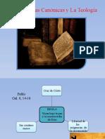 Las escrituras canónicas y la Teología