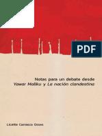 Libro Notas Para Un Debate desde Yawar Mallku y La Nación Clandestina