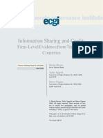 Information Sharing and Credit- Firm-Level Evidence from Transition Countries