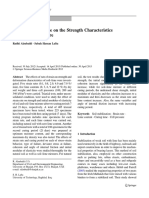 Effect of Strain Rate on the Strength Characteristics