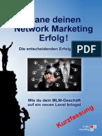 Plane Deinen Network Marketing Erfolg-Kurzfassung