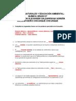 Actividades sobre tabla periodica