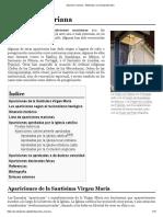 Aparición mariana - Wikipedia, la enciclopedia libre