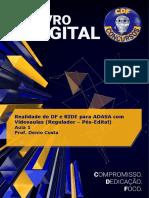 Livro digital - Aula 1 - Realidade do DF e RIDE para ADASA (Regulador - Pós-Edital)