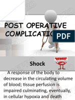 POST OPERATIVE COMPLICATIONS