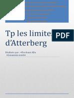 les limites d'Atterberg
