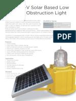 OLIS100-V Solar Based Low Intensity Obstruction Light
