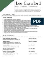 2020 kerry lee-crawford - adult teaching resume