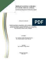Calidad bromatológica, organolépticas y pH en ensilaje de pasto cubano