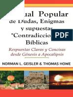 Correos electrónicos GEISLER, Norman L. & HOWE, Thomas (s.f.). Manual Popular de Dudas, Enigmas y supuestas contradicciones Bíblicas
