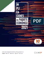 Implicaciones del Paquete Económico 2021