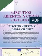 CIRCUITOS ABIERTOS  Y CORTOCIRCUITOS
