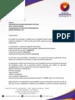 Carta Maria Fernanda