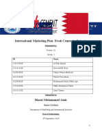 International Marketing Plan of Fresh Cement in Bahrain