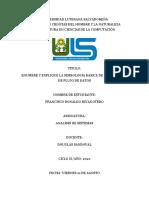 Comprensión y modelado de los sistemas organizacionales RONALDO
