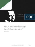 Stimmbildung für Chor Crash-Kurs
