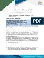 Guia de actividades y rúbrica de evaluación - Fase 1 - Reconocimiento