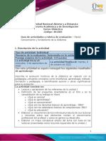 Guía de actividades y rúbrica de evaluación - Unidad 1 - Paso 2 – Conocimiento y fundamento de la didáctica