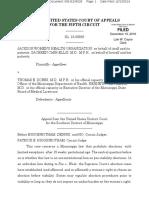 Jackson Women's Health Organization v. Dobbs 5th Circuit decision