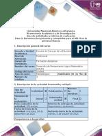 Guía de actividades y rúbrica de evaluación - Paso 2 - Reconocer los procesos y contenidos para el DPLM en la educación infantil (2).pdf